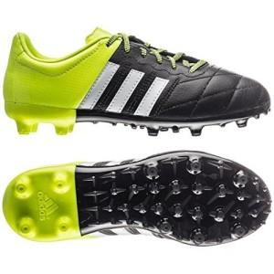 Adidas - Botas de fútbol - Botas para terreno firme Ace 15.3 - Negras - Negro / Blanco / Amarillo solar, 38 2/3