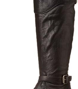 Frye Phillip Riding Mujer Negro Piel Zapatos Botas Talla EU 39,5
