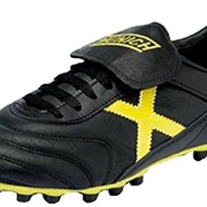 Munich Mundial - Botas para hombre, color negro / amarillo