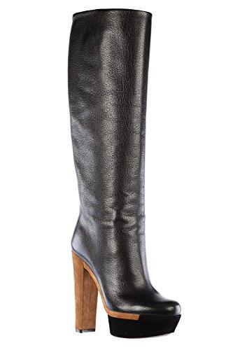 Gucci botas de tacón mujer en piel nuevo luxor negro