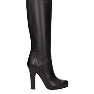 C13915A144380999 Dolce & Gabbana botas para mujer de cuero negro