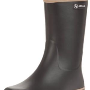 Aigle Malouine BT noir/camel - Botas de agua de goma mujer