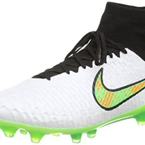 Nike Magista Obra Firm-Ground - Botas de fútbol de sintético para hombre blanco White (White/Psn Green/Blk/Ttl Orng) 41