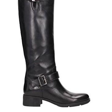 3W5908NERO Prada botas para mujer de cuero negro
