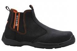 Base de seguridad Zapatos Botas de traficantes de ante negro S1P